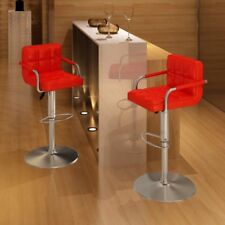 Vidaxl 2 pz sedie da Bar rosse con braccioli