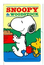 """Single Playing Card Charles Schulz Art, Peanuts, """"Snoopy"""" SC-18-1 A"""