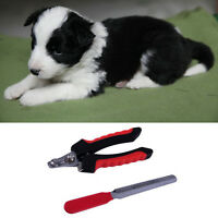 Pet Dog Cat Rabbit Paw Claws Clippers Cutter & Nail File Animal Cut Pip