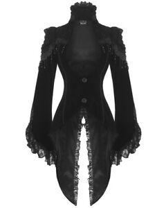 Edler Steampunk Gothic Damen Samt-Frack RQ-BL Jacke Mantel Barock neu (21119)