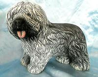 "Old English Sheepdog Dog ceramic figurine statue 9"""