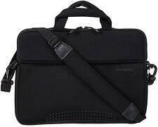 Samsonite Aramon NXT Messenger Shoulder Bag Leather Strap 14 Laptop Case Black