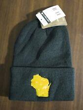 Carhartt Winter Beanie Hat Wisconsin Cheese State Logo Unisex Dark Green