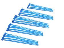 100 X Forti Nero Bianco e COLORE MISTO NYLON PLASTICA Fascette zip tie Wraps