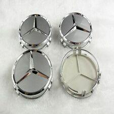 Set 4 Coprimozzi Coppette Borchie Cerchi In Lega Mercedes 75 mm Diametro