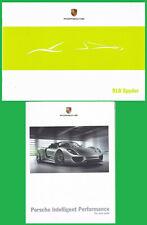 brochure lot of 2 PORSCHE HYBRID : 918 / 911 GT3 R / CAYENNE S !!! english text_
