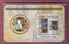 FRANKRIJK SET MET GROTE GEKLEURDE PENNING CONVERSIE FRANC > EURO