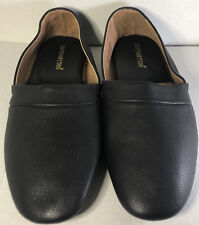 Botany 500 Black Leather Men's Opera Slippers/House Shoes Size 13M Gently Used