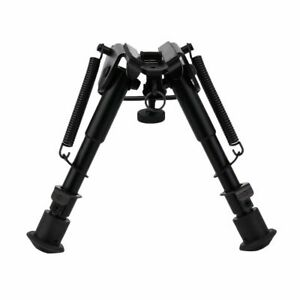 "Adjustable Metal Spring Bipod + Adapter Rail Hunting Air Rifle 6"" - 9"" Airsoft"