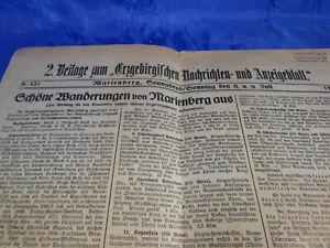 2.Beilage Erzgebirgisches Nachrichten-und Anzeigenblatt Marienberg Wanderung1939