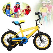 14 Zoll Gelb Kinderfahrrad Kinder BMX Jungen Fahrrad Bike Rad Stützräder