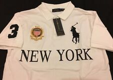 Polo Ralph Lauren Big Pony Polo Shirt Men's Custom Fit White New York T Shirt