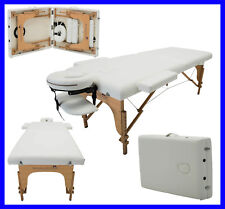 MASSAGE IMPERIAL® IVORY WHITE CHARBURY PORTABLE MASSAGE TABLE COUCH BEAUTY REIKI