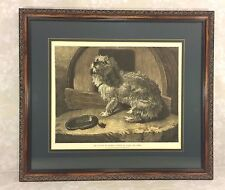 Ant Lithograph in Frame Dog w/ Saying of No Place Like Home Sir Edwin Landseer
