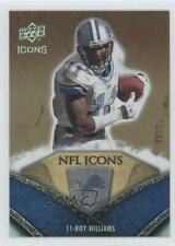2008 Upper Deck Icons NFL Rainbow Gold /99 Roy Williams #NFL20