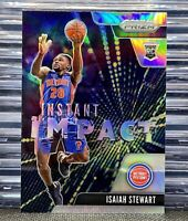 🔥2020-21 Panini Prizm Isaiah Stewart Instant Impact Rookie #22 Silver Holo RC