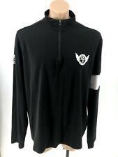 Polo Ralph Lauren Black & White Polo Rl Cycling 1/4 Zip Long Sleeve Shirt Men's