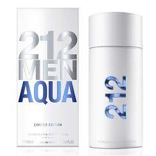 Carolina Herrera 212 Men Aqua 3.4oz 100ml Eau De Toilette for Men Limited 2017