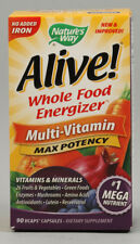 Alive Multivitamin VCaps, Nature's Way, without Iron