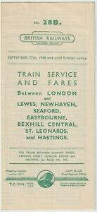 British Railway History: BR(S) Timetable 1948 NEWHAVEN SEAFORD BEXHILL HASTINGS