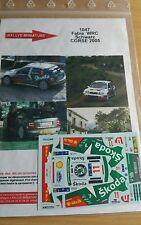 Decals 1/18 réf 1047 Skoda Fabia WRC Schwartz Tour de Corse 2005