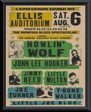 Howlin' Wolf, John Lee Hooker, T-Bone Walker Poster Reprint On Old Paper *042