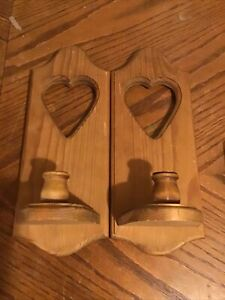 vintage candle wall sconces pair