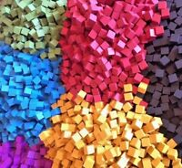 8mm wooden cubes (Pack of 10x) - Many Colours ! UK Seller - Accessories / Spares