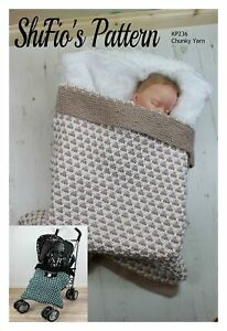 Knitting Pattern for Babies Blanket, Knitted Blanket Knitting Pattern, Chunky...