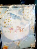 Baby Infant Gift Set Pooh Bodysuit Mitts Bib 2 Wash cloths NIP Baby Shower Gift