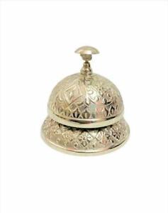Nautical Handmade Nickle Finish Desk Bell Counter Bell For Decor