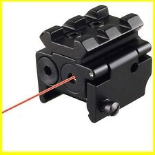 Hunting Mini Compact Pistol Low Profile Rifle Red Dot Laser Sight Scope w/mounts