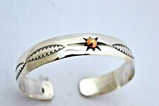 925 Sterling Silver Cuff Bangle Bracelet with Sun 34 grams