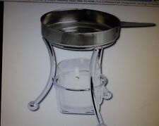 BUTTER WARMER,STAINLESS STEEL incl Stand Butter Cup&Candle*BEST DEAL do the Math