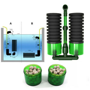 Fish Tank Double Sponge Filter Aquarium Air Pump Oxygen Water Biochemical Tool