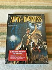 ARMY OF DARKNESS Blu-Ray (Scream 3 Disc Collector's w/ SLIPCOVER) Evil Dead RARE