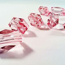 17pcs BEAUTIFUL PINK ANGLED BEADS - 22mm acrylic - jewellery making wholesale