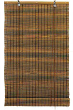 "5' x 6' 60"" x 72"" Bamboo Espresso Brown Black Roll Up Window Blinds Shade"