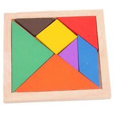 Children Kids Educational Tangram Shape Wooden Puzzle Toy BS