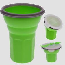 Smart Planet Collapsible Silicone Eco Travel Bowl with Spork, Green (EC-34CER)