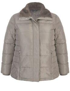 Women's Plus Size 20 Autograph Winter  Fur Trim Puffer Jacket Coat