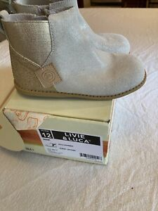Livie and Luca Wink Boots Little Girls 12 Gold Sparkly EUC
