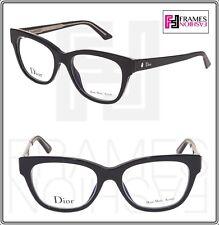 655ae2129d16 CHRISTIAN DIOR MONTAIGNE N06 Black Crystal Oval 52mm RX Optical Eyeglasses