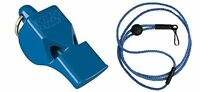Fox 40 Whistle Lanyard Referee Coach Outdoor Dog Safety BLUE