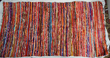 Large Hand Woven Soft and Velvety Rag Rug - 185 x 105cm - 6' x 3.6' - BNIB (A)
