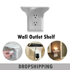 Wall Outlet Shelf Holder Charging Socket Storage Power Perch Home Phones Rack-