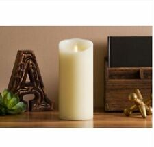 Luminara Classic Pillar  9 inch Ivory Vanilla Scent with Timer & Remote