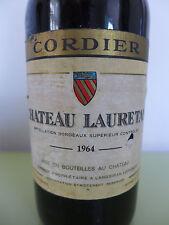 JG. 1964!!! Grand Vin Rouge Château LAURETAN D. Cordier plume bordeaux
