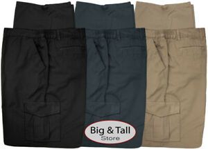 Big & Tall Men's Casual Cargo Pants with Side Elastic by Full Blue Sizes 42 - 68