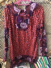 Anna Sui 1960s Mod Velvet Silk Mini Dress Sz 4